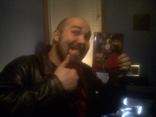 Jon with a copy of Tokyo Gore Police