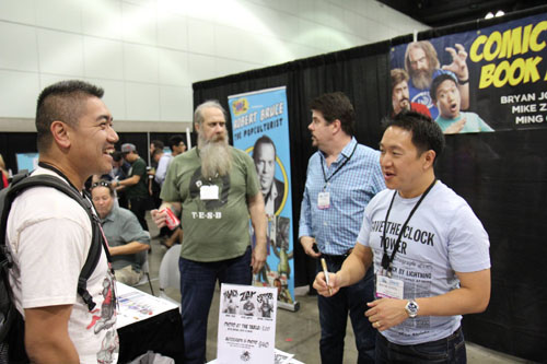 rayhomdotcom meeting the ComicBook Men at Comikaze 2014 in L.A.